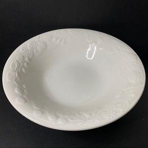 Gibson Ceramic Large Bowl Embossed Fruit Pattern
